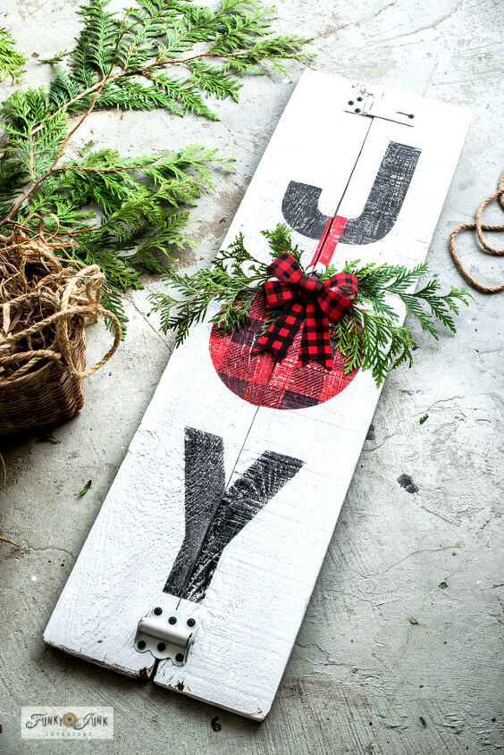 how to make a vertical joy porch sign with an unexpected 3d effect