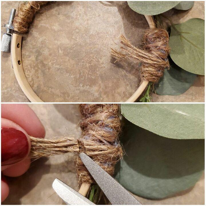 diy hoop wreath