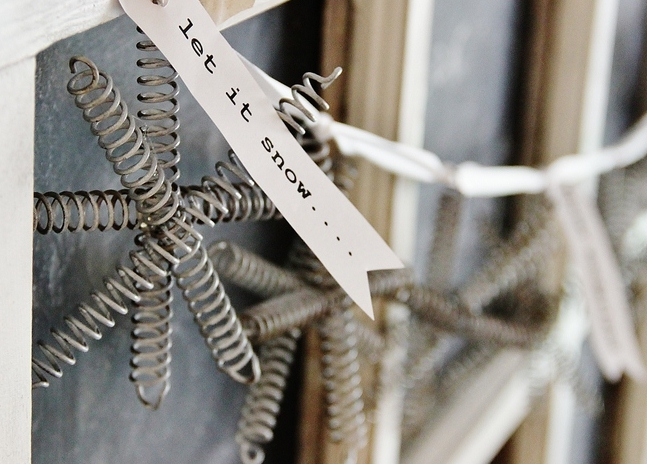 s 17 ways people are repurposing items to make christmas decor, Snowflake Bed Springs Ornaments
