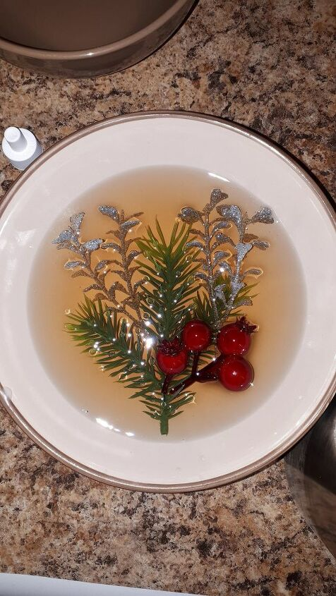 scented wax winter bowl