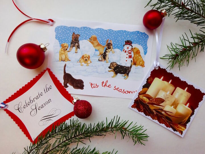 new uses for old christmas cards