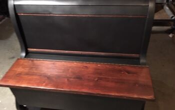 A Sleigh Bed Repurposed Into a Bench.
