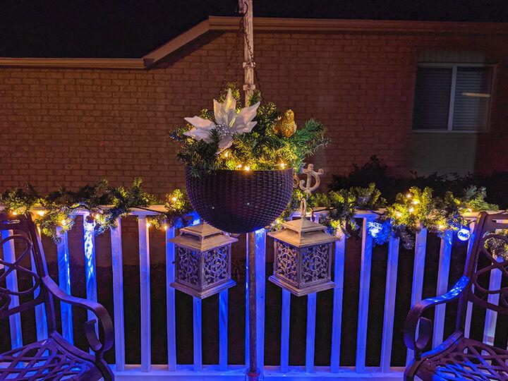 pre lit hanging holiday basket