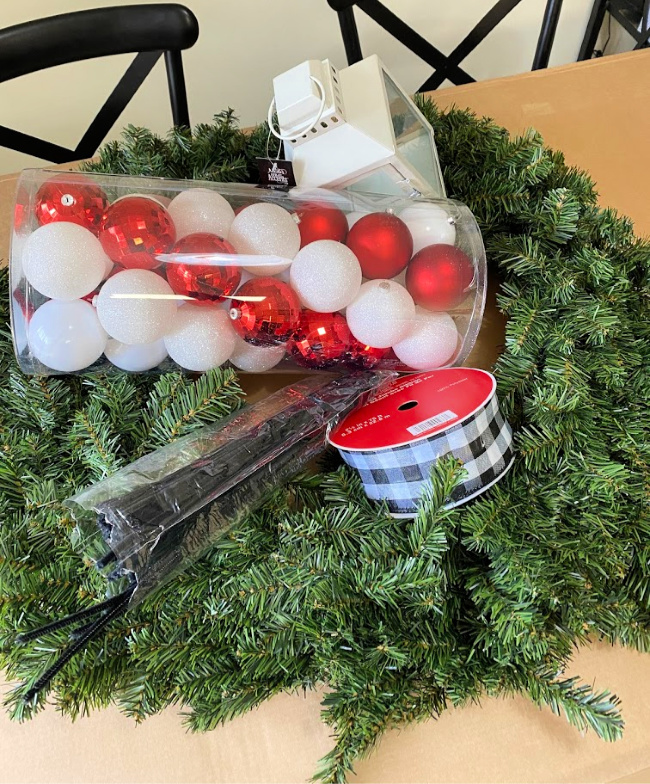 how to dress up a store bought wreath