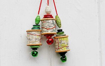 Personalized Upcycled Map Thread Ornaments For The Tree