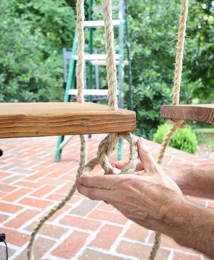 how to build and hang single seat porch swings