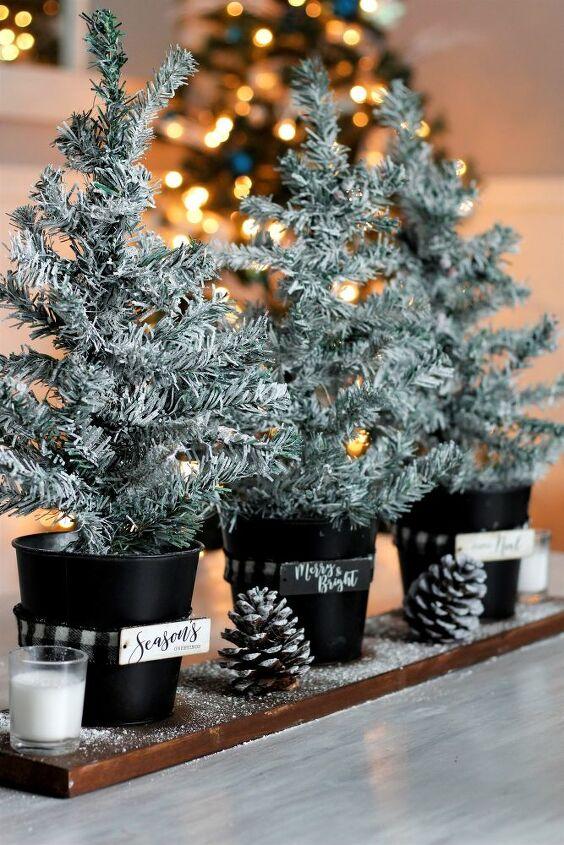 rustic mini christmas tree centerpiece