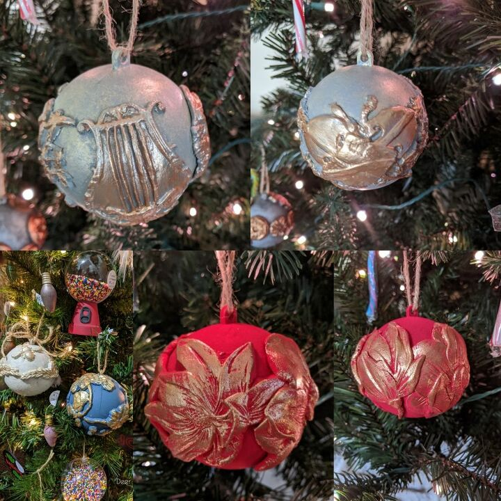 unique elegant christmas ornaments using paper clay silicone molds