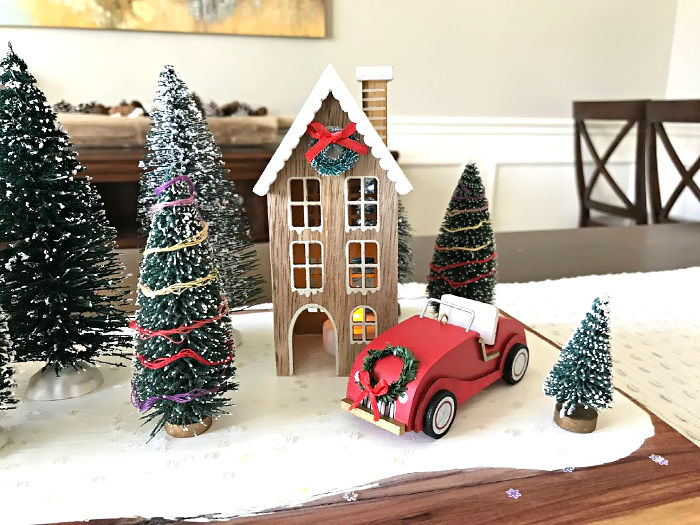 modern farmhouse christmas village display