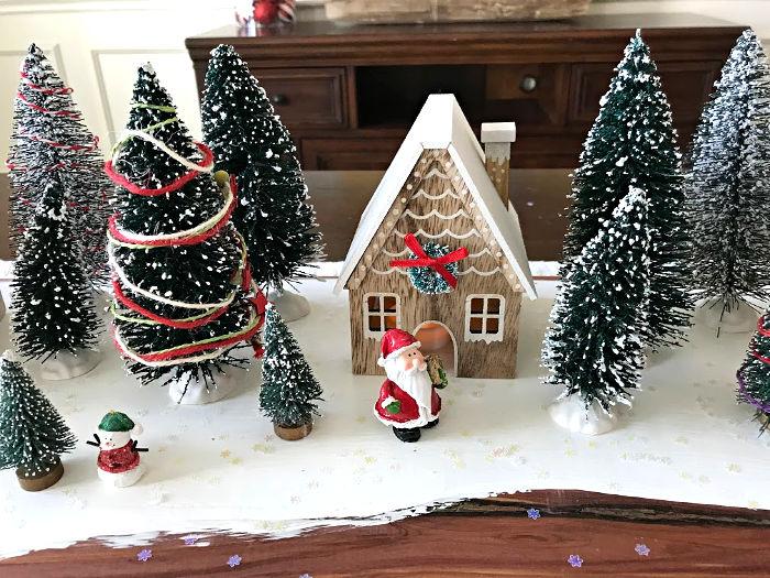 modern farmhouse christmas village display