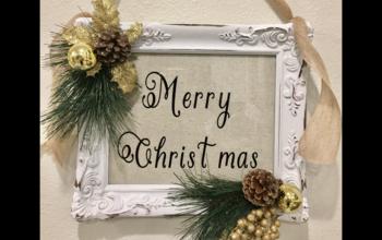 DIY Christmas Farmhouse Sign