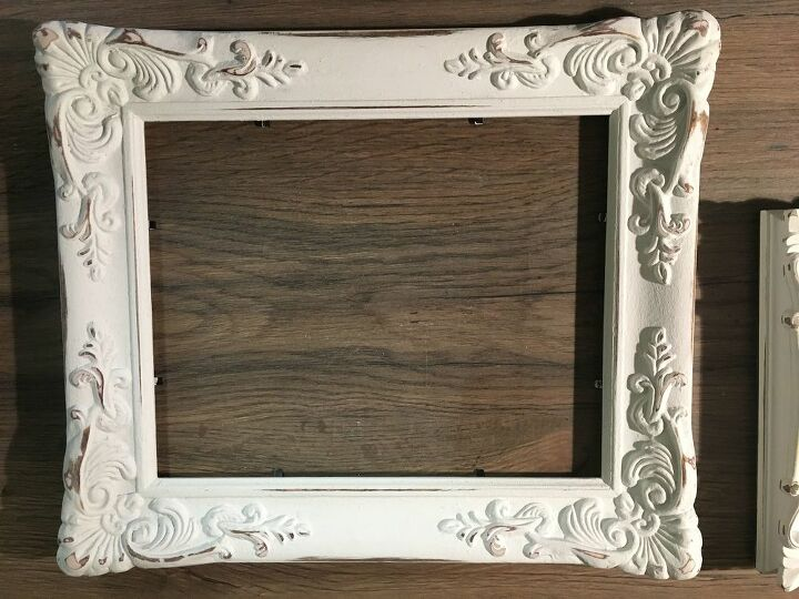 chalk paint farmhouse sign using a thrift store picture frame