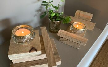 Modern Rustic Tea-light Plinths From Scrap Wood