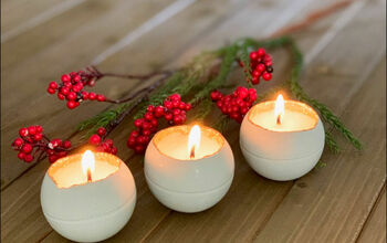 Easy Round Cement Christmas Candles