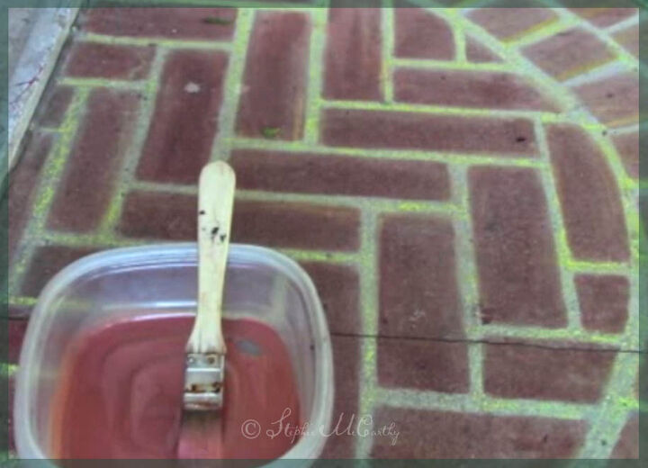 how to paint bricks on concrete