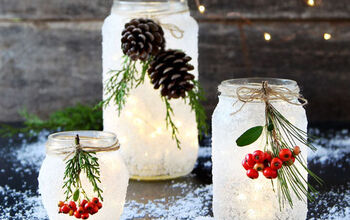 Mason Jar Winter and Christmas Decorations