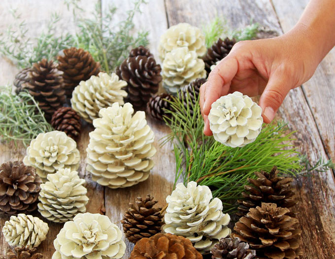 mason jar winter and christmas decorations