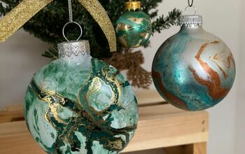 How to Hydro Dip Ornaments to Create Keepsakes