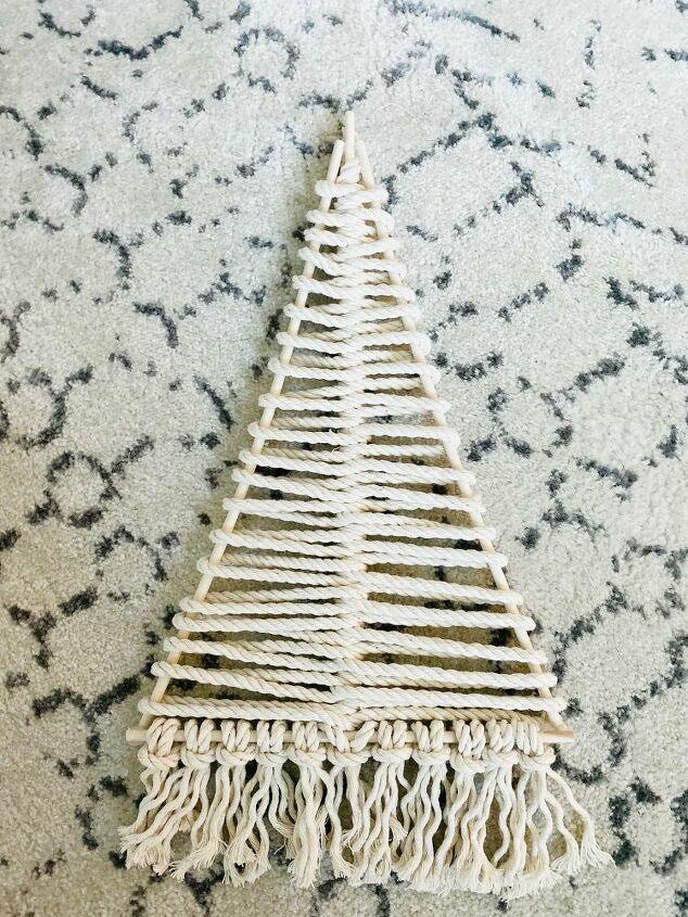 diy macrame christmas trees