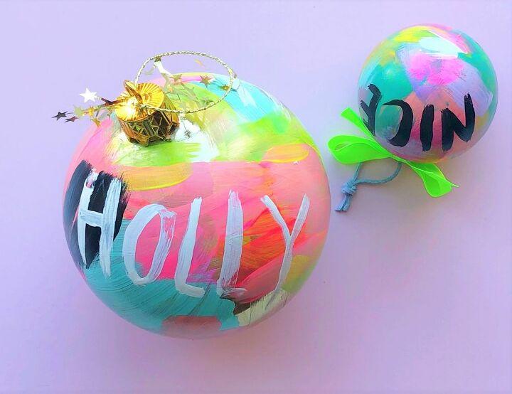 colorful diy graffiti ornaments