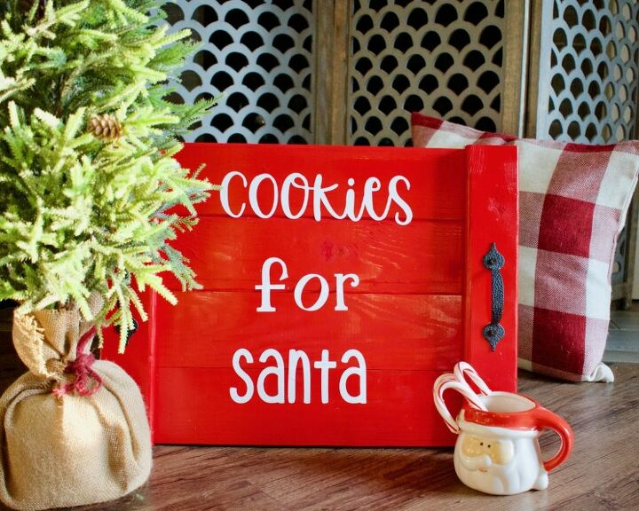 easy diy santa cookie tray