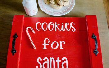 Easy DIY Santa Cookie Tray