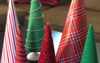 DIY Cone Christmas Trees