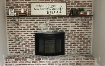 How to Apply German Schmear to Give Your Brick Fireplace a New Look
