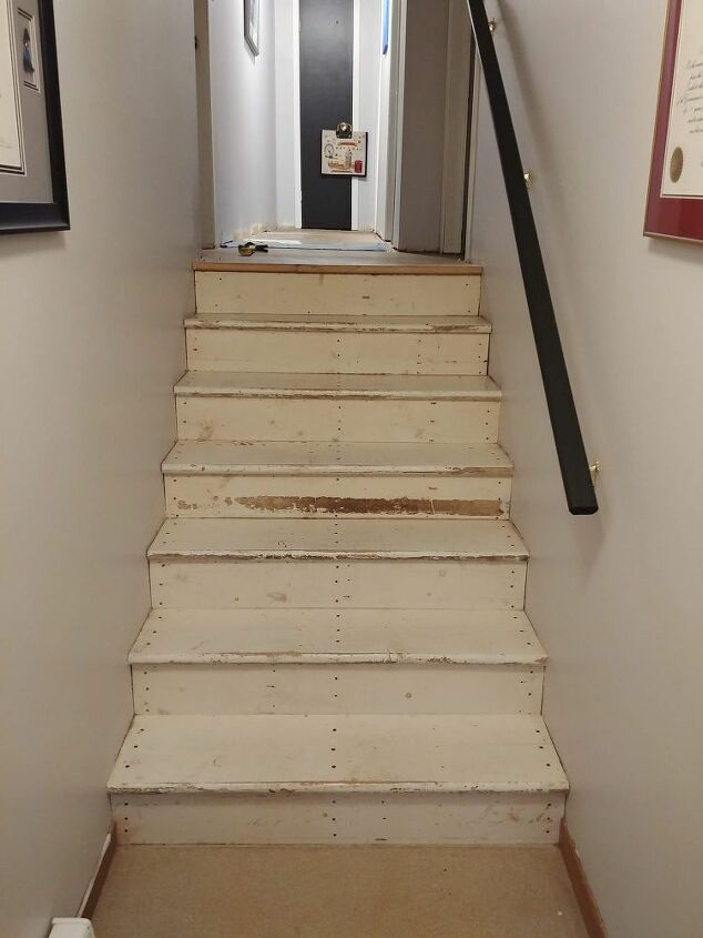The stairs I began working on them.