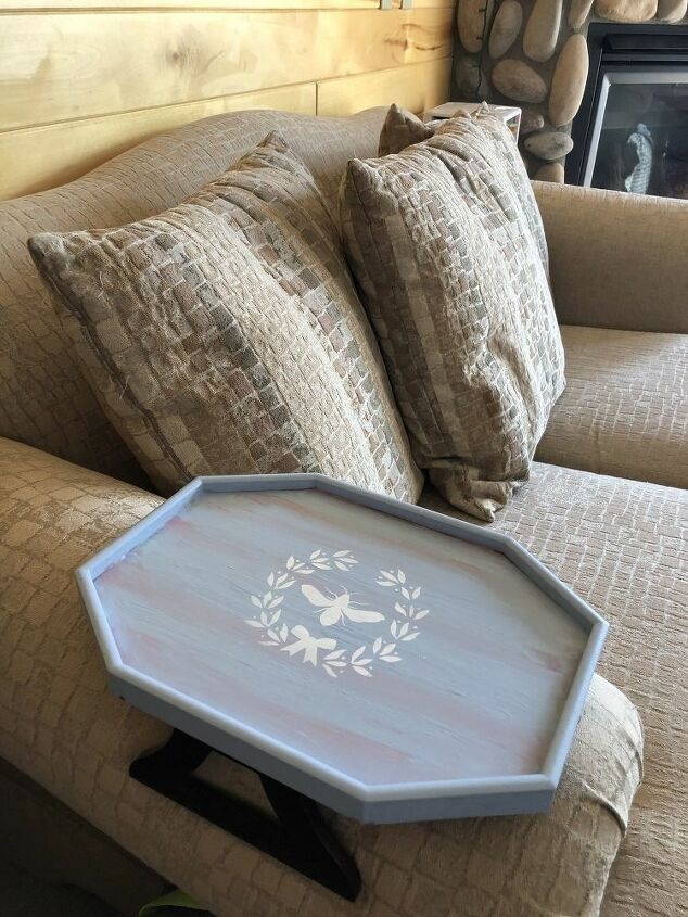 couch sofa arm tray upcycle