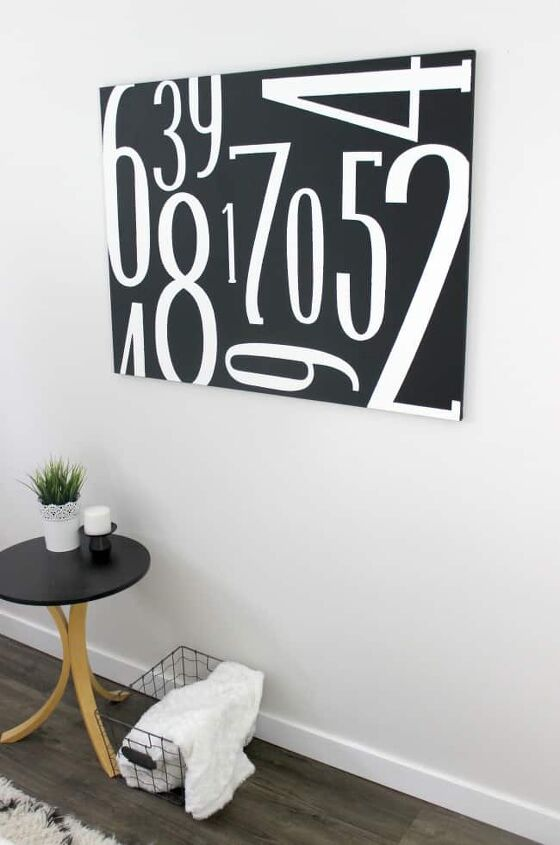 subway canvas art with numbers
