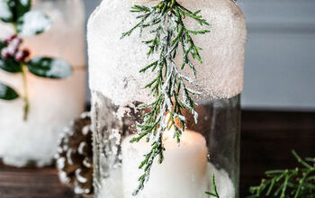 5-Minute DIY Snow Covered Candle Jars