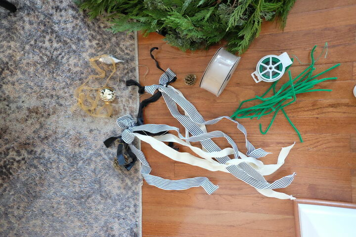 embellishing christmas garland
