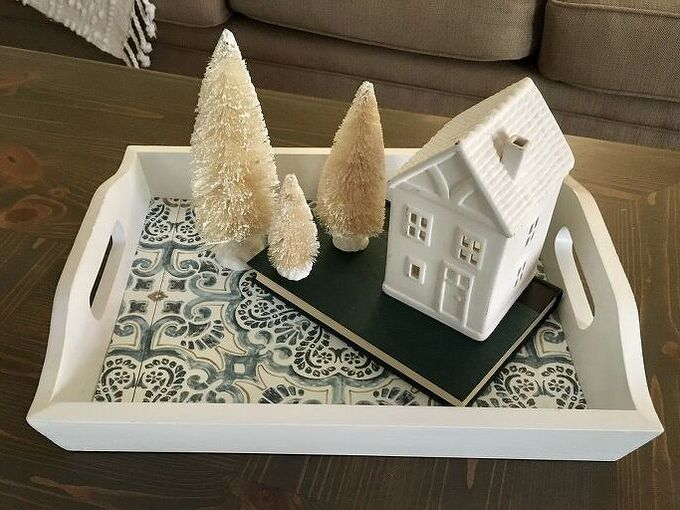 thrift store tray transforms from ordinary to extraordinary