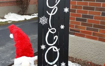 Turning an Old Wooden Sleigh Into an Outdoor Sign