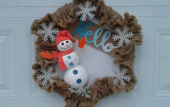 Four Season Burlap Wreath- Winter