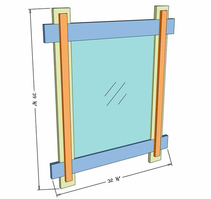 diy mirror frame for entryway