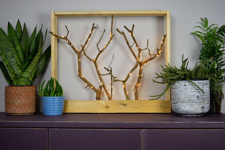 diy christmas decoration with tree branches