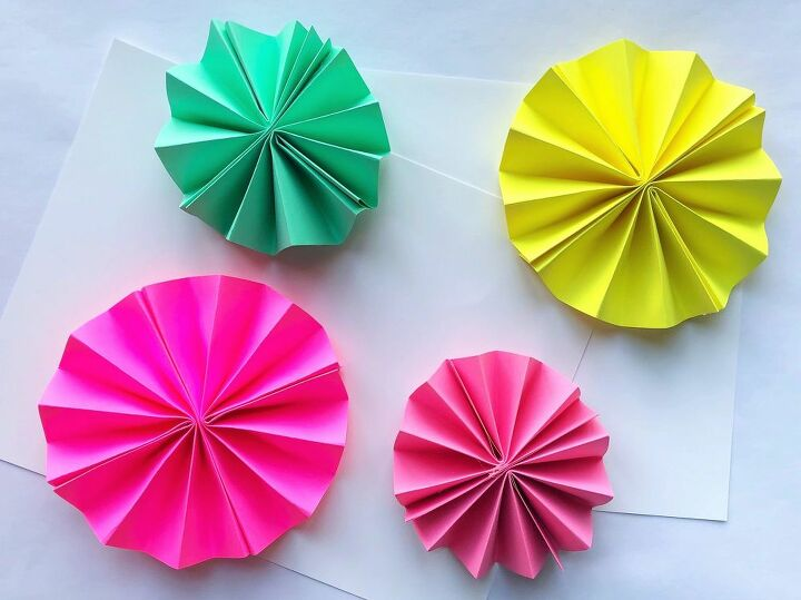 diy paper rosette ornaments