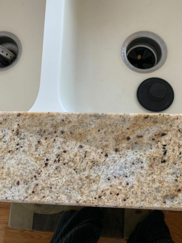 q how to remove deep stains from granite counter top