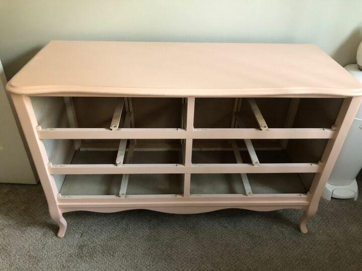 pink french provincial dresser