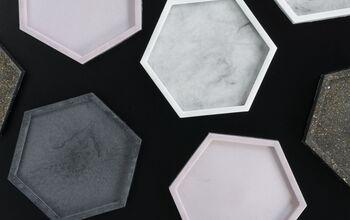 Chic Hexagon Resin Coasters