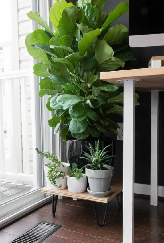 diy midcentury plant stand