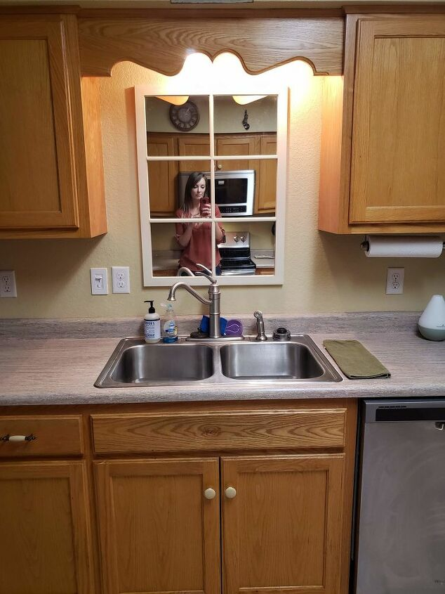 simple sink swap stainless to farmhouse