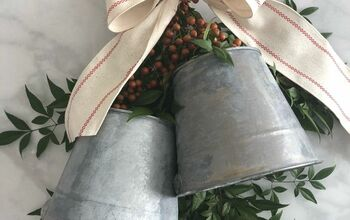 Christmas Galvanized Bucket Bell Wreath