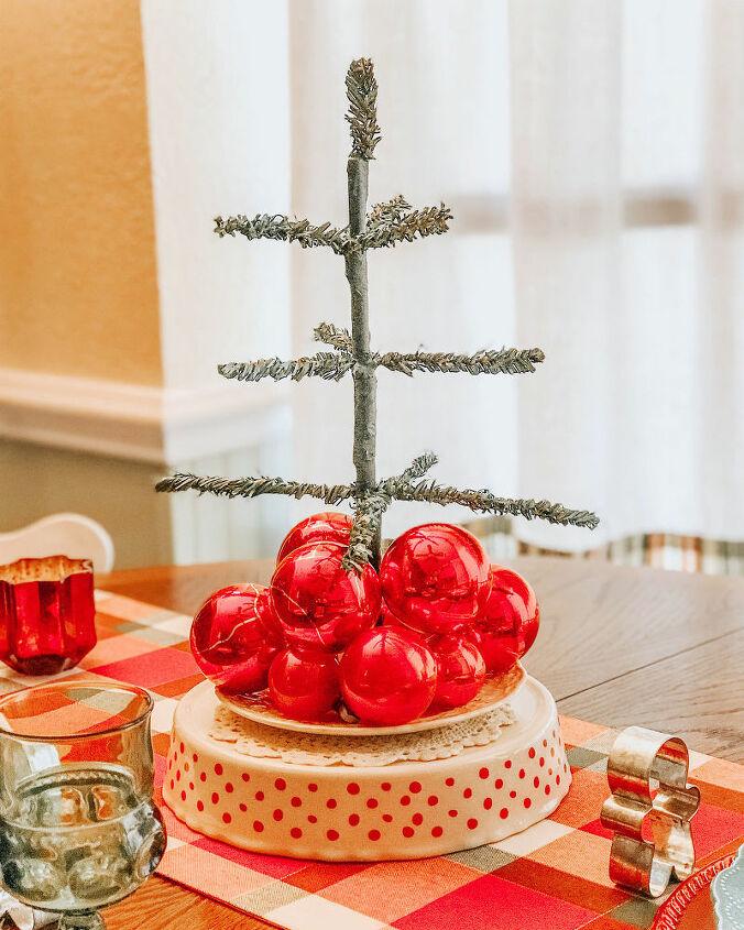 diy vintage feather christmas tree