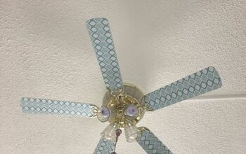 Update Your Ceiling Fan With Contact Paper From the Dollar Tree for $1