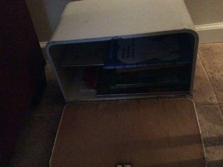 q how to repurpose antique breadbox