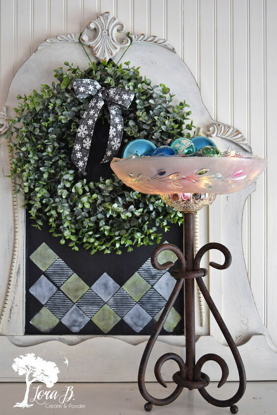 repurposed vintage glass light shade