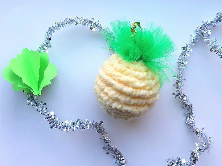 diy woven faux christmas ornaments